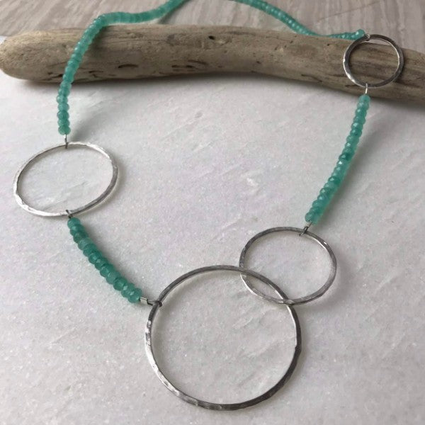 Aqua Multi Hoop Necklace
