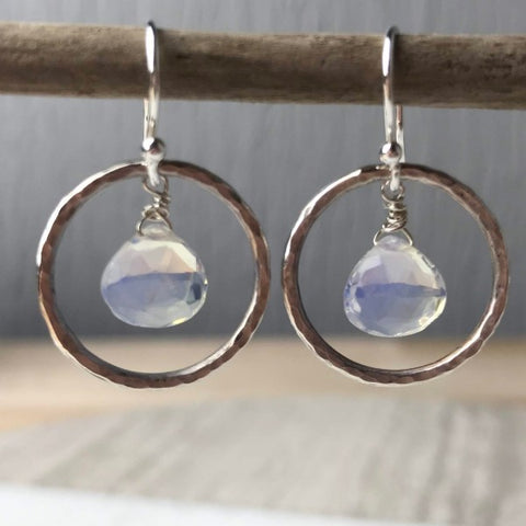 Opalite Hoop Earrings