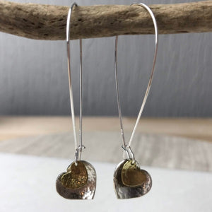 Brass Heart Earrings