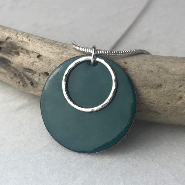 Jade Green Hoop Necklace