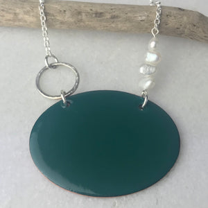 Jade Green Oval Necklace