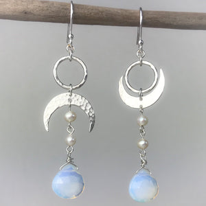 Asymmetric Crescent Earrings