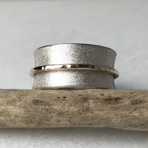 Frosted Silver Spinning Ring