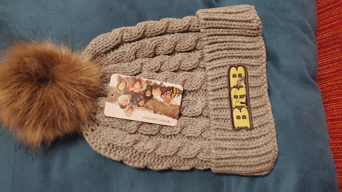 Womens Fuzzy Hat BRB