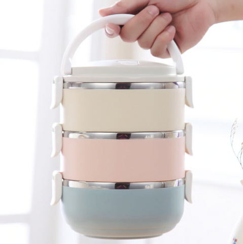 Image of Gradient Color Stainless Steel Japanese Lunch Box