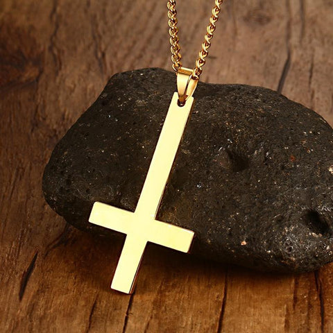 Image of Upside Down Cross Necklace