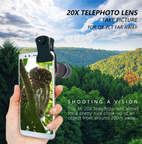 HD ZoomScopic™ Phone Camera Telephoto Lens
