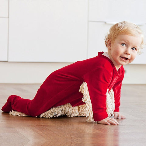 Image of Adorably Funny Baby Romper Mop