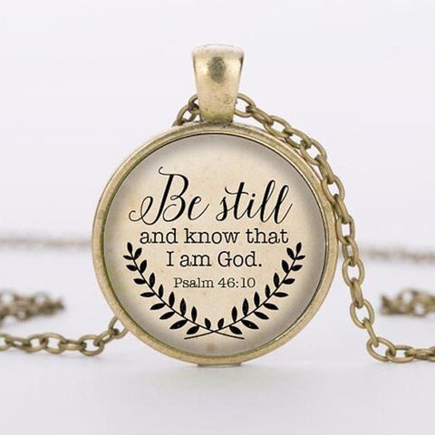 "Image of ""Be Still and Know That I am God"" Necklace"