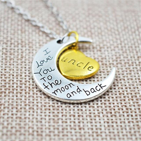 """I love you to the moon and back"" Necklace"