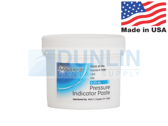 Dental Pressure Indicator Paste PIP (2.25oz Jar) White - Mark3 #1200