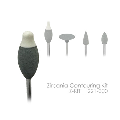 Z-KIT Zirconia Contouring Kit for Pre-Sintered Zirconia 5 Shapes/Kit