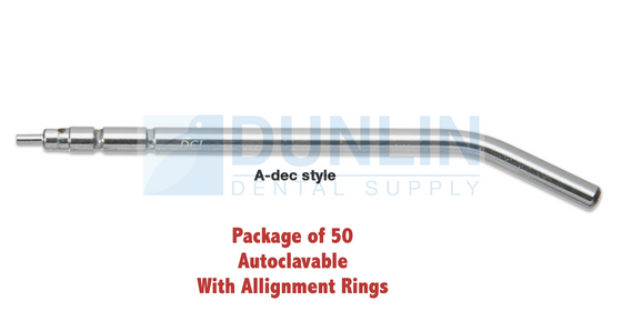 50 Pcs Dental Autoclavable Syringe Tips A-dec Style w/ Alignment Rings, #DCI3056