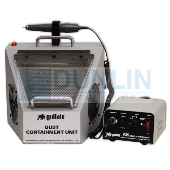 Buffalo Dental Dust Containment Unit Light, Suction, V35 Handpiece, Filter #36800