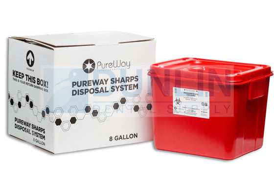 PureWay Sharps Disposal Collection System 8 Gallon (40008)