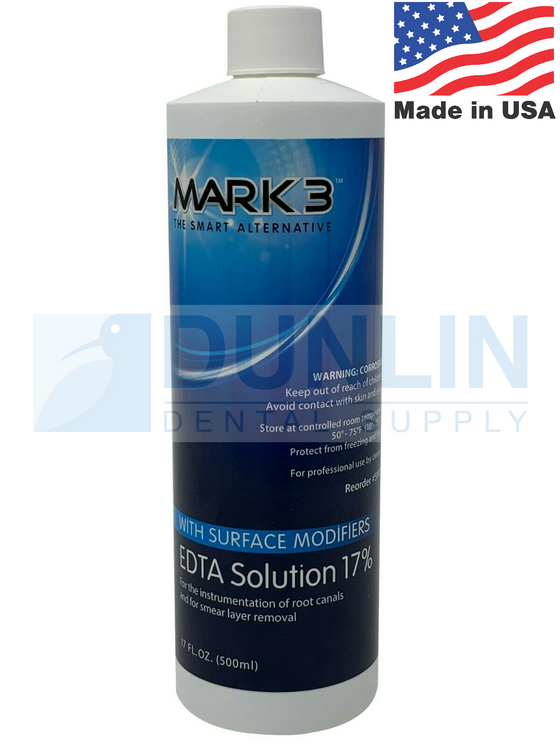 Mark3 Dental EDTA Solution 17% with Surface Modifiers (4oz or 17oz)