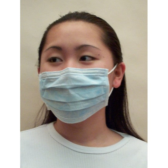 Starryshine Premium Earloop Surgical Mask Level 2 Blue Color, Pleated (Box of 50) Fiberglass, Latex Free. (BFE) 99%