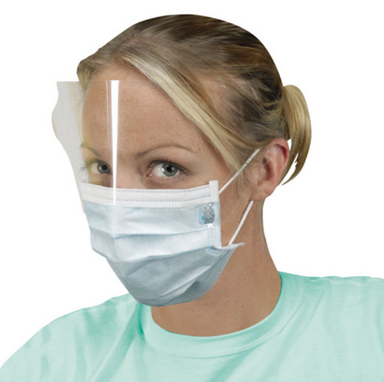 3-PLY Earloop Face Mask with Shield