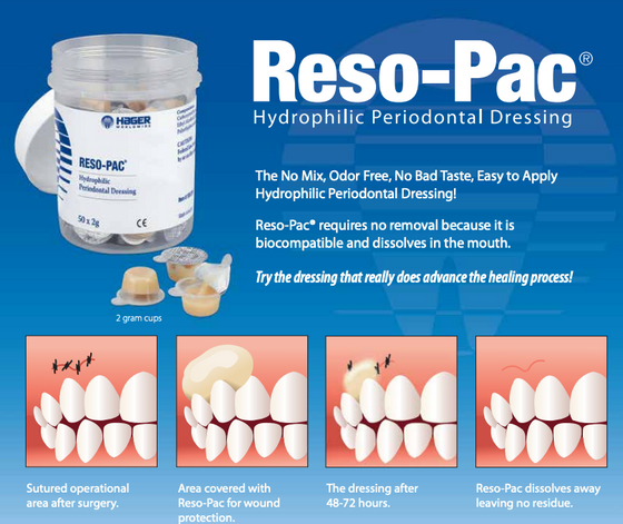 Hager Reso Pac Periodontal Dressing, Odor Free, No Mix Required