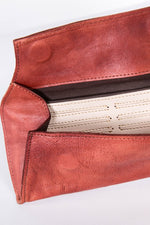 Leather Wallet-Clutch