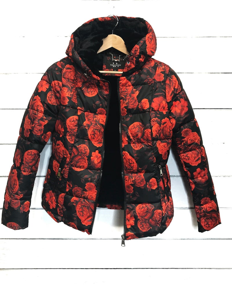 Floral Puffer Jacket