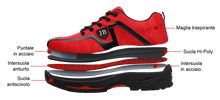 Load image into Gallery viewer, Tactical Shoes JB9 Indestructible Black/Red