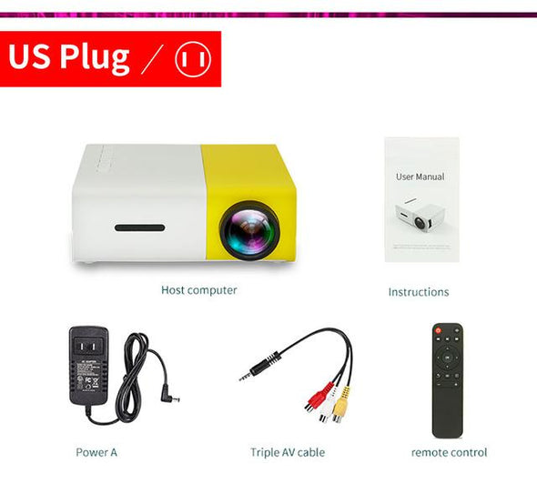 Mini Led Projector Pocket Size - Yellow