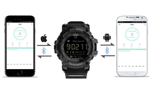 Tactical Smart Watch V8 Shock Proof Blue