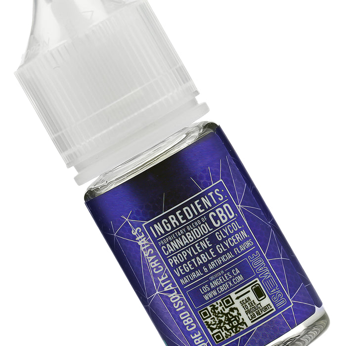 CBDfx Blue Raspberry CBD Vape Juice Ingredients Description