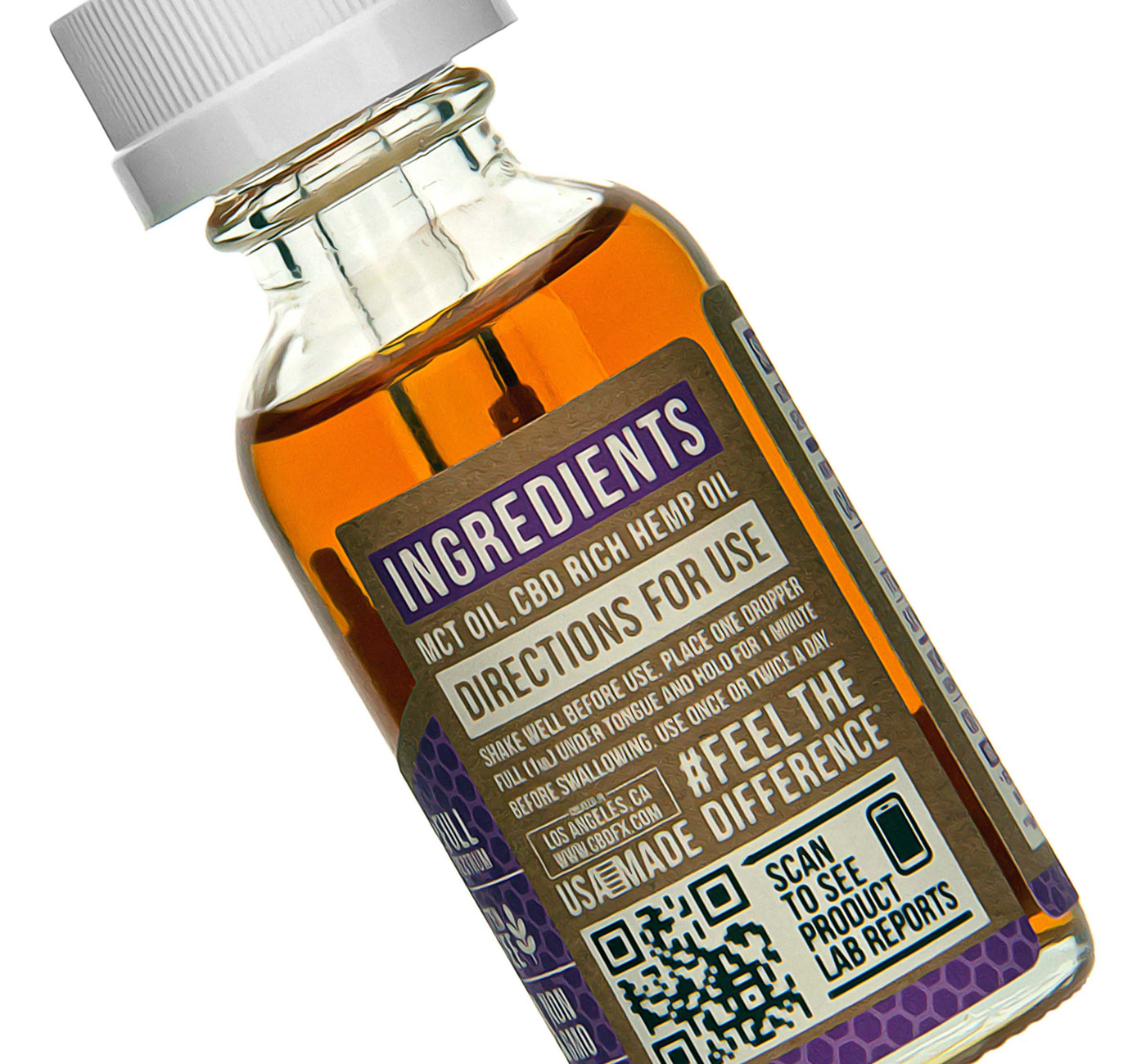 CBDfx CBD Tincture Oil 1500mg Ingredients Description