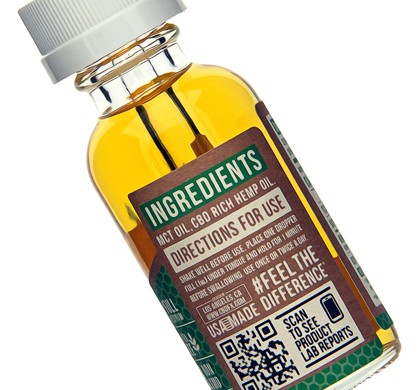 CBDfx CBD Tincture Oil 500mg Ingredients Description