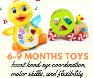 Which toys are recommended to a 6-9 months baby?