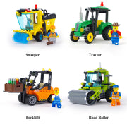 Sweeper Forklift Tractor Road Roller Bricks