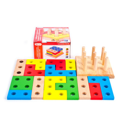 wooden building blocks shapes