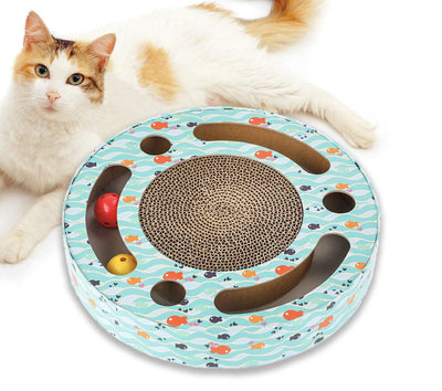 CAT SCRATCHER INTERACTIVE CAT TOY