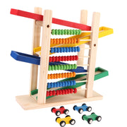 Baby Educational Wood Toy with 4 Toy Cars