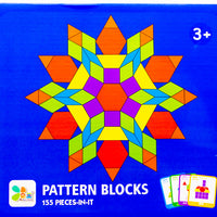 Pattern blocks - 155 pcs