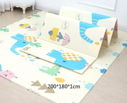 blue baby play mat