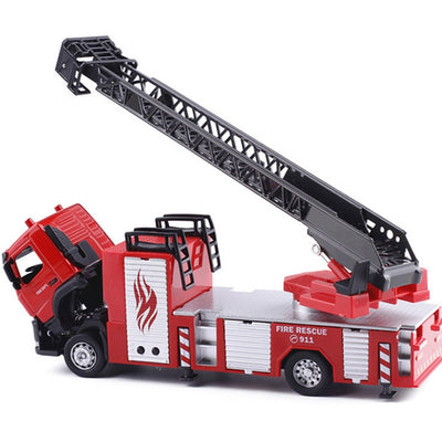 Alloy Ladder Truck Fire Truck
