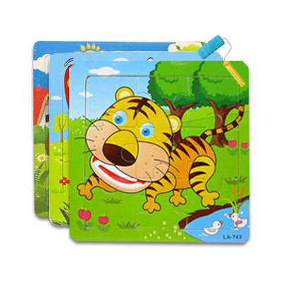 Wooden puzzle for toddlers - 16 pcs