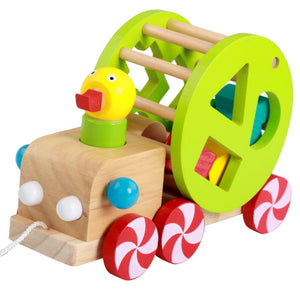 Wooden Duck Pull Along for babies