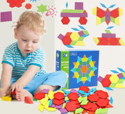 Wooden Pattern Blocks - 130 pieces