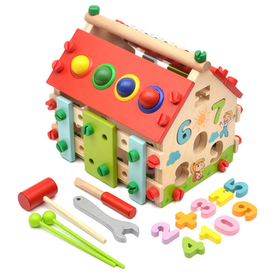 Wood House learning building blocks