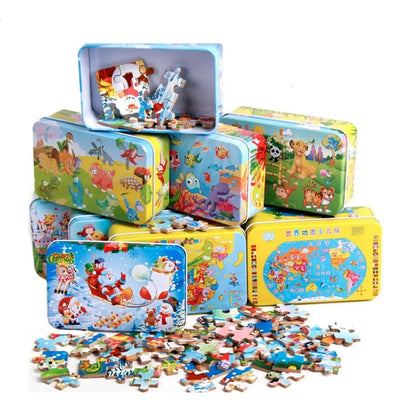 Wooden Animal Puzzles - 60 pcs