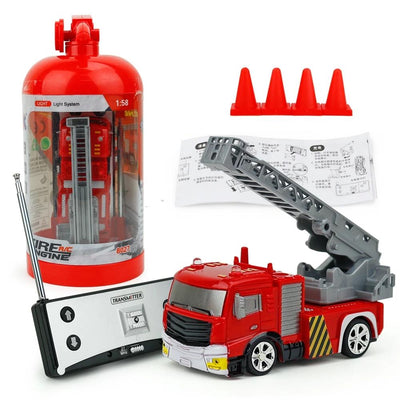Mini 1:58 RC Fire Engine Rescue Truck