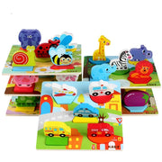 Animal Traffic 3D Puzzles  - Hand Grasping Board