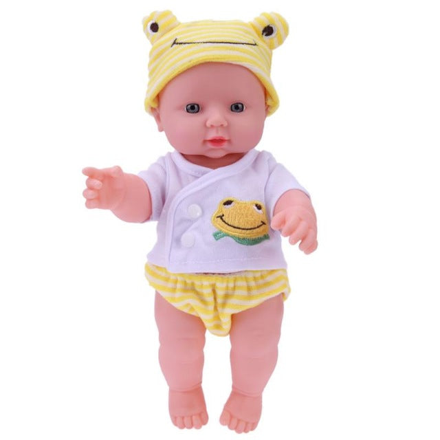 baby doll with yellow hut