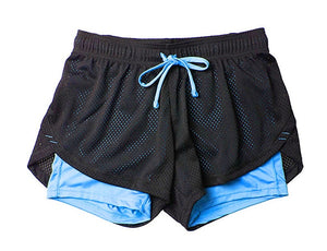 women's fitness shorts with pockets