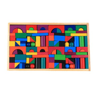 wooden block 112 pieces box