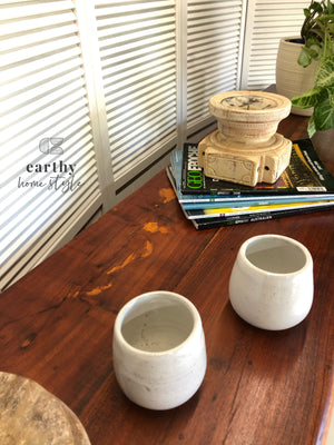 Earthy Home Style, hand painted, eco approved paint, Australian made paint, eco-conscious, sideboard, candle holder, wine vessels, ceramic